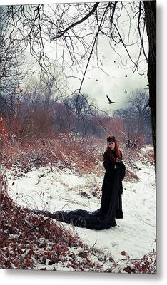 Raven Queen Metal Print by Cambion Art