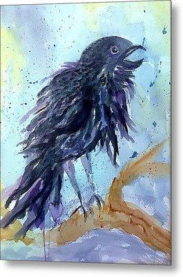 Raven Speaks  Metal Print