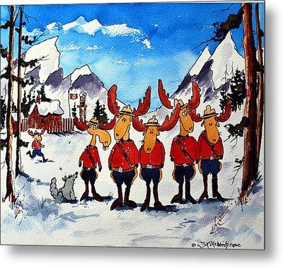 Rcmp  Detachment At Fort Macmoose  Metal Print by Wilfred McOstrich