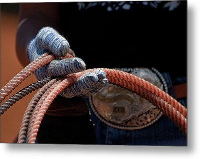 Metal Print featuring the photograph Ready To Rope by Roger Mullenhour