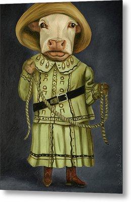 Real Cowgirl 2 Metal Print