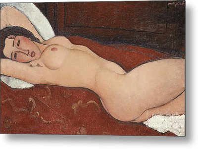 Reclining Nude, 1917 Metal Print