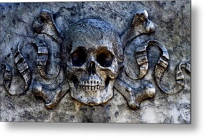 Recoleta Skull Metal Print by Rob Tullis