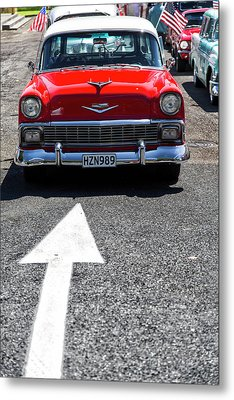Red 1956 Chevy Bel Air Metal Print by Russ Dixon