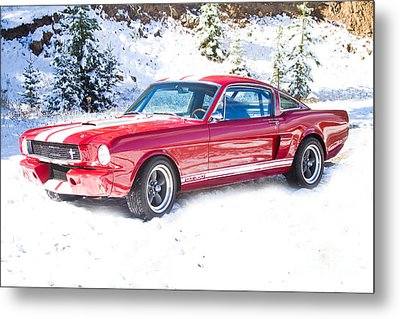Red 1966 Ford Mustang Shelby Metal Print