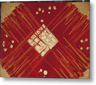 Red And Gold No. 3 Metal Print by Samuel Freedman