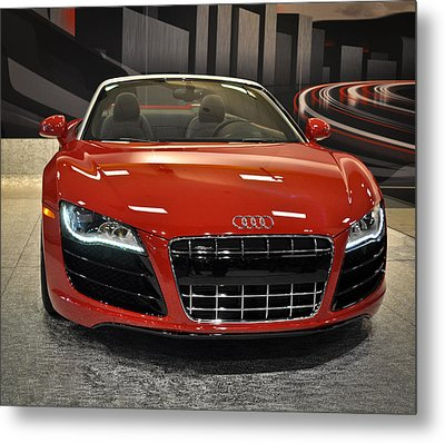Red Audi R8 Seattle Auto Show 2011 Metal Print