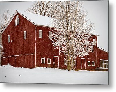 Red Barn IIi Metal Print by Tim Fitzwater