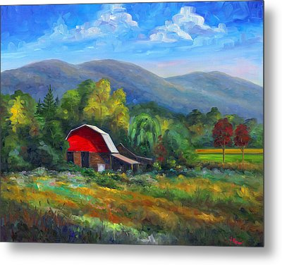 Red Barn On Cane Creek Metal Print by Jeff Pittman