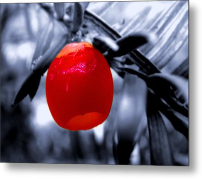 Red Bell Metal Print by Roberto Alamino