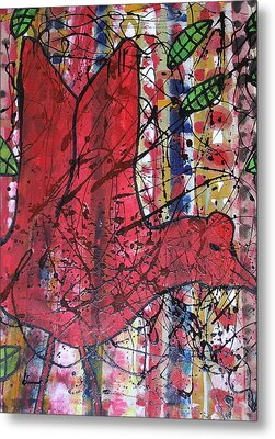 Red Bird I Metal Print by Russell Simmons