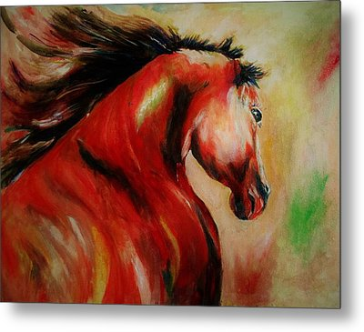Red Breed Metal Print by Khalid Saeed
