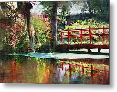 Red Bridge Metal Print