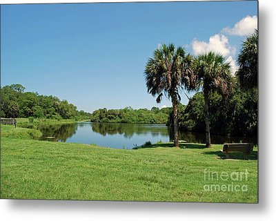 Metal Print featuring the photograph Red Bug Slough by Gary Wonning