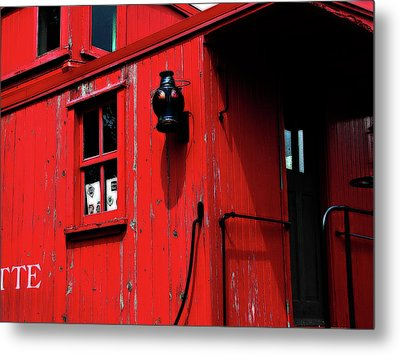 Red Caboose Metal Print by Scott Hovind