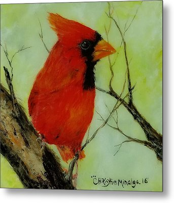 Metal Print featuring the painting Red by Christie Minalga