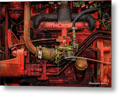 Red Metal Print by Christopher Holmes
