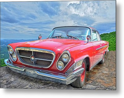Red Chrysler 300 Metal Print