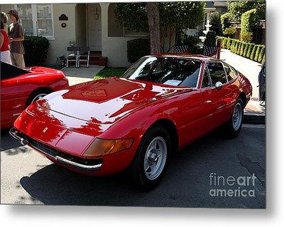 Red Ferrari Daytona . 40d9356 Metal Print by Wingsdomain Art and Photography