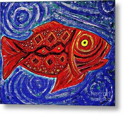 Red Fish Metal Print by Sarah Loft