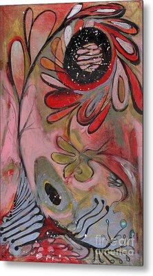 Red Flower Metal Print by Michelle Spiziri