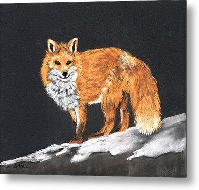 Red Fox Metal Print by Anastasiya Malakhova