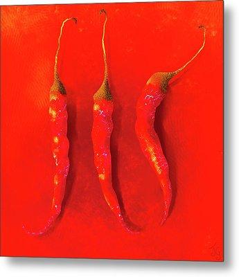 Red Hot Chili Pepper II Metal Print
