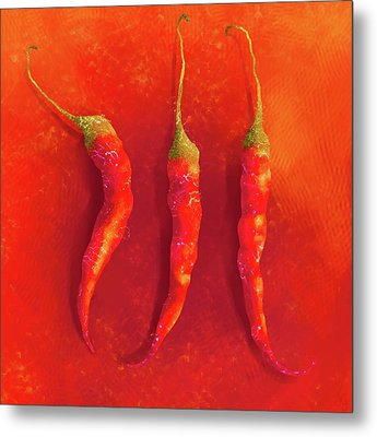 Hot Chili Peppers Metal Print