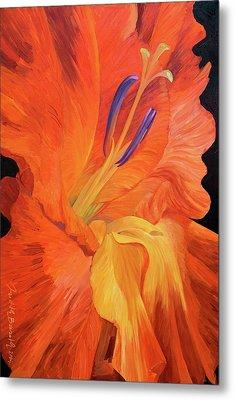 Red-hot Flower Metal Print