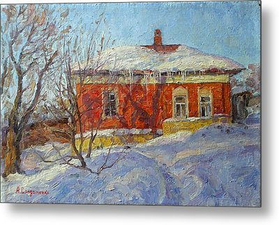 Red House Metal Print by Andrey Soldatenko