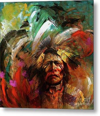 Red Indians 02 Metal Print
