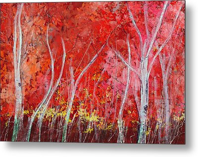 Crimson Leaves Metal Print