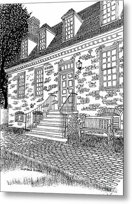 Red Lion Inn In The Restored Williamsburg Virginia Colonial District Metal Print by Dawn Boyer