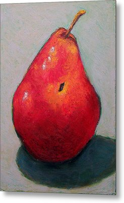 Red Pear Metal Print by Joyce Geleynse