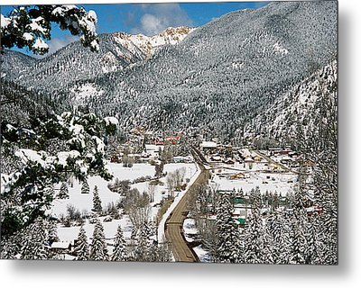 Red River In Winter Metal Print