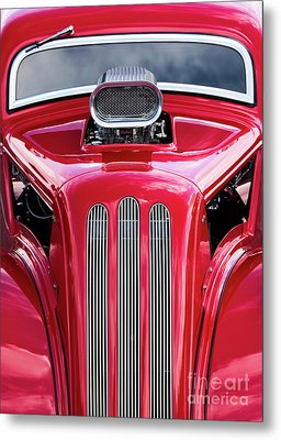 Red Roadster Metal Print