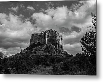 Metal Print featuring the photograph Red Rocks Sedona Bnw 1 by David Haskett