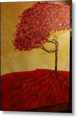Red Rooted Tree Dancer Metal Print by Nora Sorensen