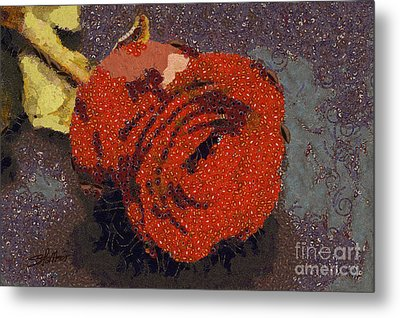 Red Rose Abstract Metal Print by Shirley Stalter