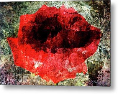 Red Rose Metal Print by Andrea Barbieri