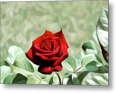 Red Rose Love Image Hd 5225_2 Metal Print by S Art