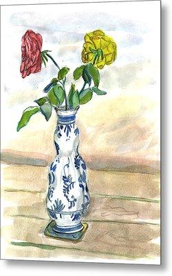 Red Rose Yellow Rose Metal Print