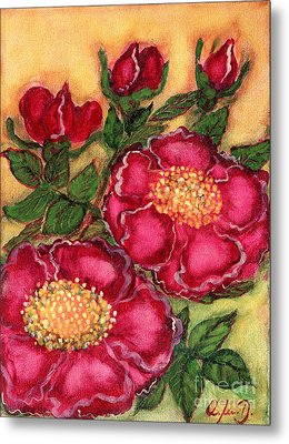 Red Roses Metal Print by Anna Folkartanna Maciejewska-Dyba