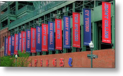 Red Sox Hall Of Fame Banners - Fenway Park Metal Print
