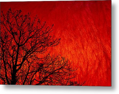 Red Storm Metal Print by Charuhas Images