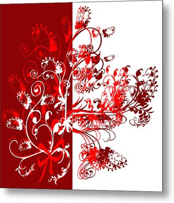 Red Swirl Metal Print by Svetlana Sewell