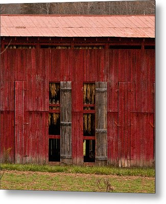 Red Tobacco Barn Metal Print