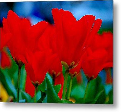 Red Tulips Metal Print by JoAnn Lense