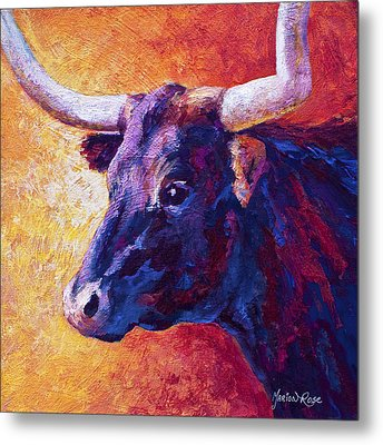 Red Violet Metal Print by Marion Rose