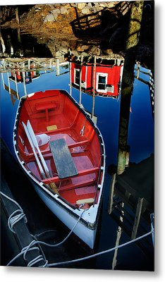Red White And Blue Metal Print by Ron St Jean